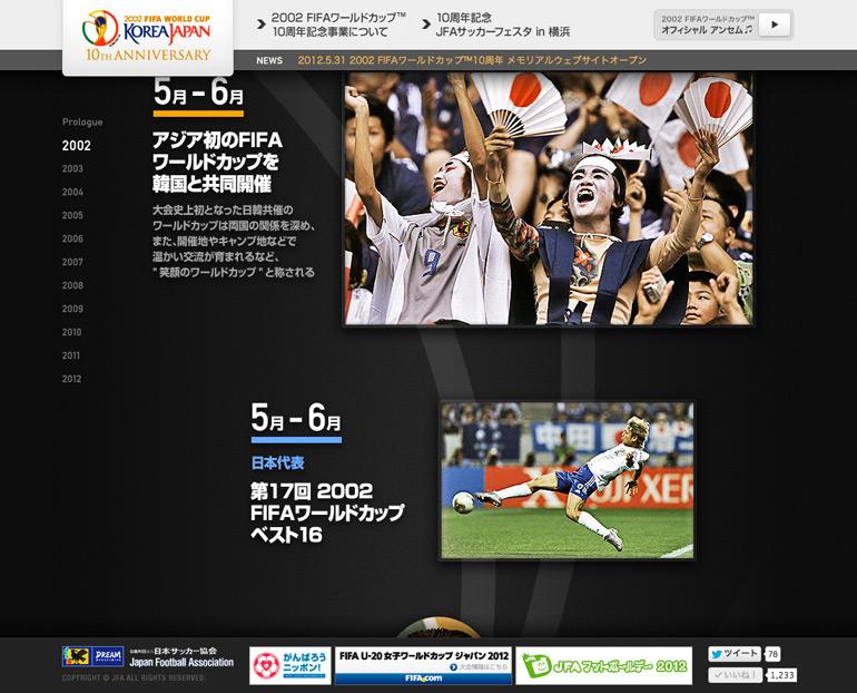 2002 FIFAワールドカップ 10周年 メモリアルウェブサイト
