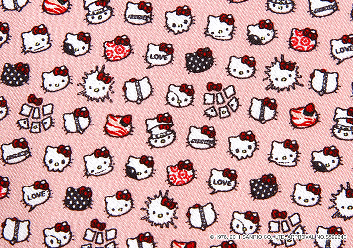 HELLO KITTY MEETS muta Silk Pocket handkerchief