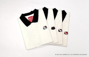 HELLO KITTY MEETS muta Panda polo shirt